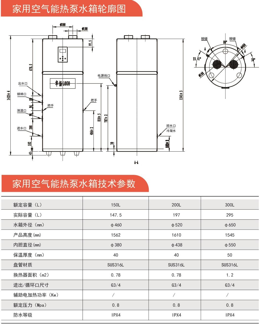 家用空气能热泵系列厂家
